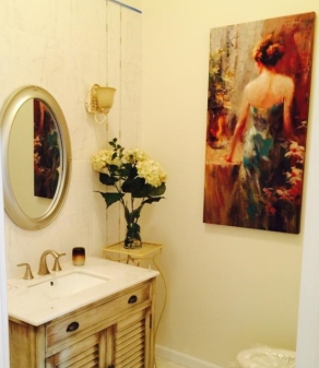 Powder Room Painting